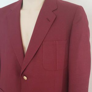 Lanvin men's dark red wool blazer 42S vintage 1980